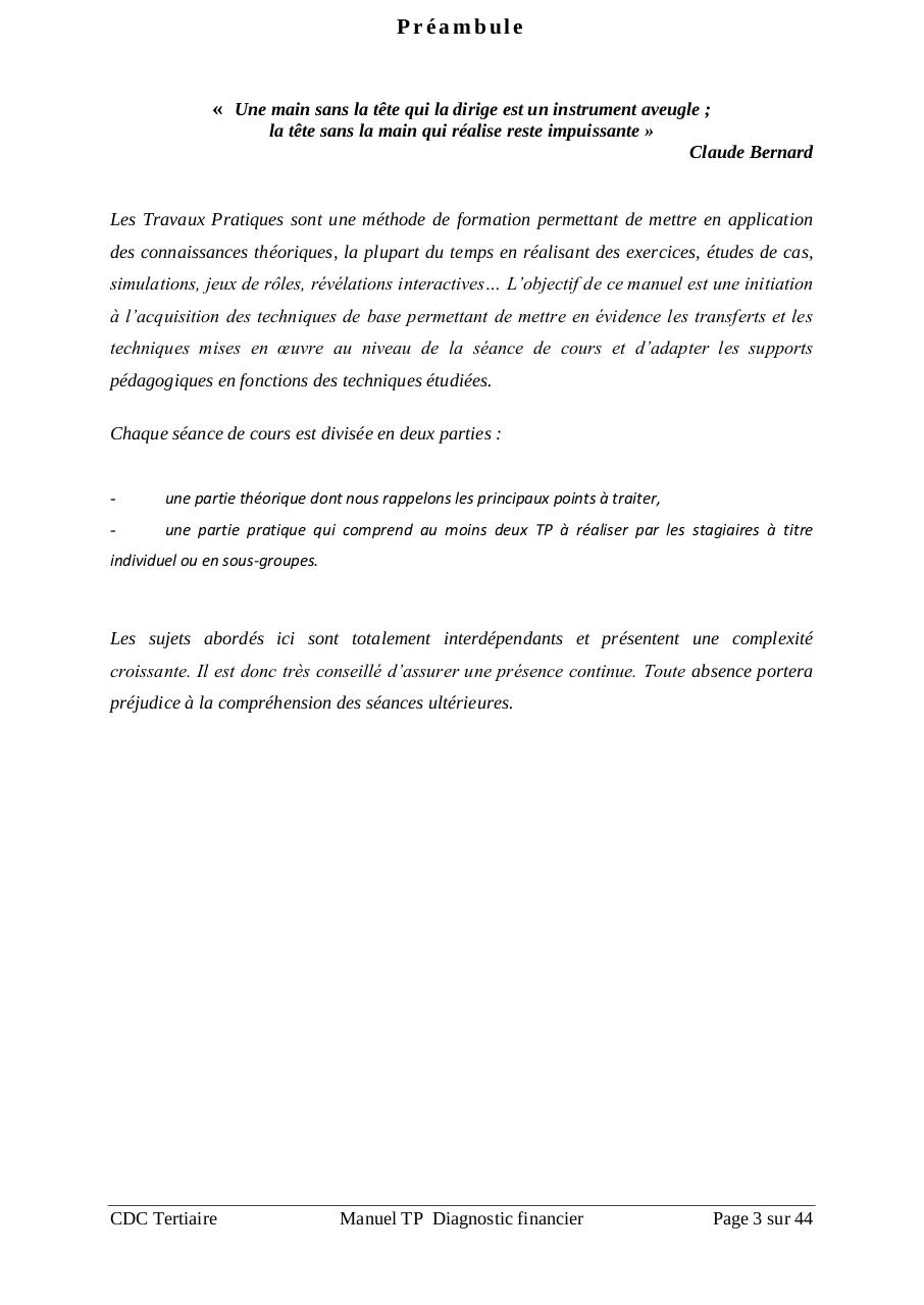 diagnostic financier pdf ofppt