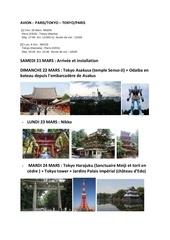 resume japon mars
