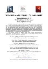 psychanalyse et jazz programme pdf