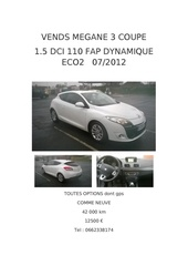 affiche megane 3 coupe iii coupe