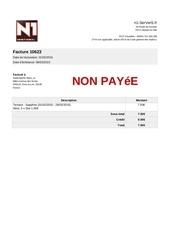 Fichier PDF facture 10623