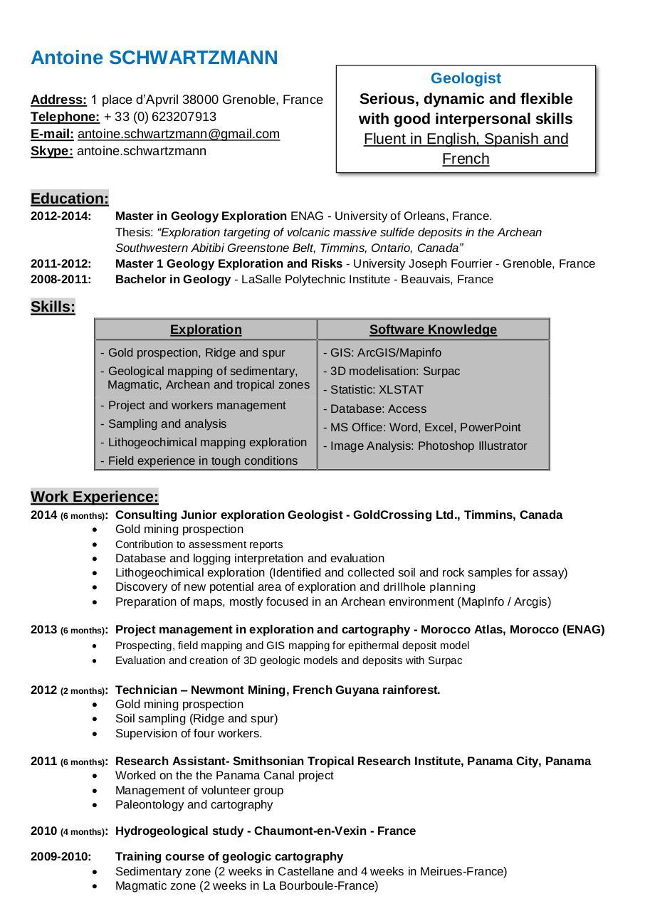antoine schwartzmann 2015 resume english par administrator