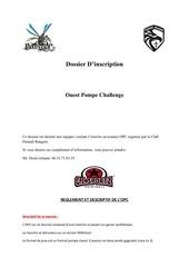 dossier d inscription ouest pump challenge