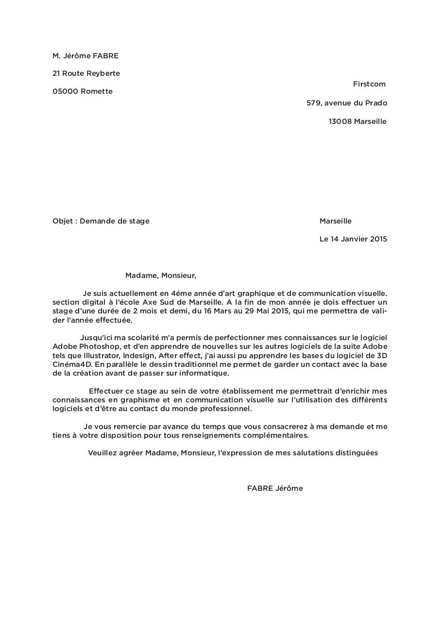 lettre de motivation 2015 firstcom