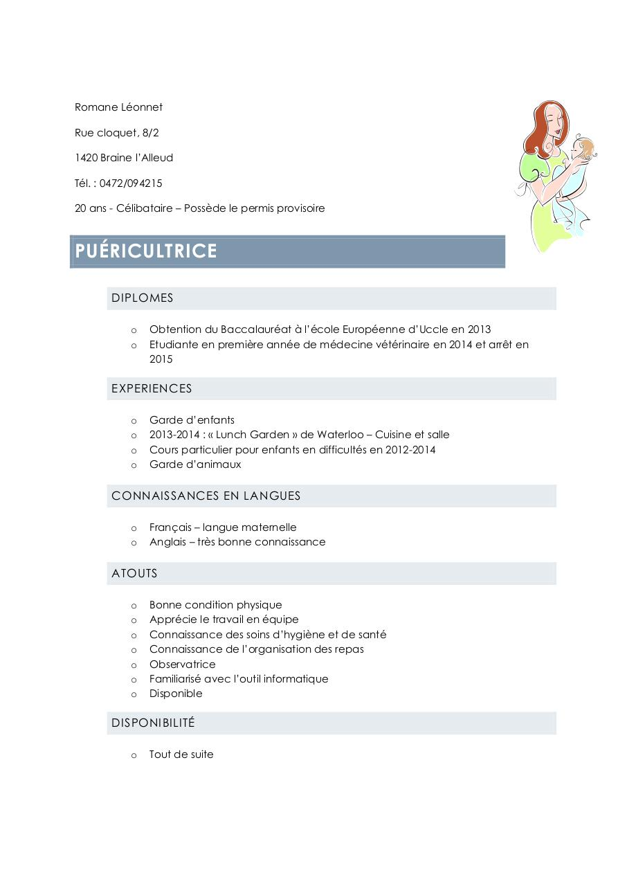 cv - maison d u0026 39 enfant pdf par berangere jadin