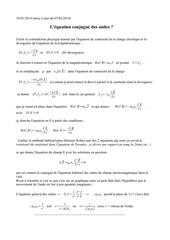 l equation conjugue maxwell 3