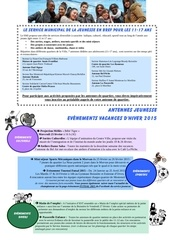 plannings antennes vacances hiver 2015