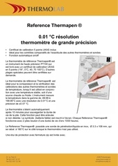 Fichier PDF reference thermapen thermometre reference