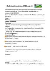 bulletin d inscription fmb cup 2 1