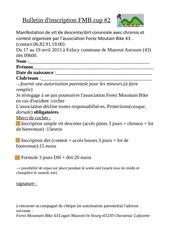 bulletin d inscription fmb cup 2