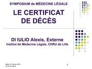 symposium ml certificat deces
