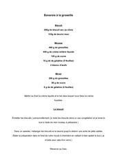 Fichier PDF bavarois a la groseille