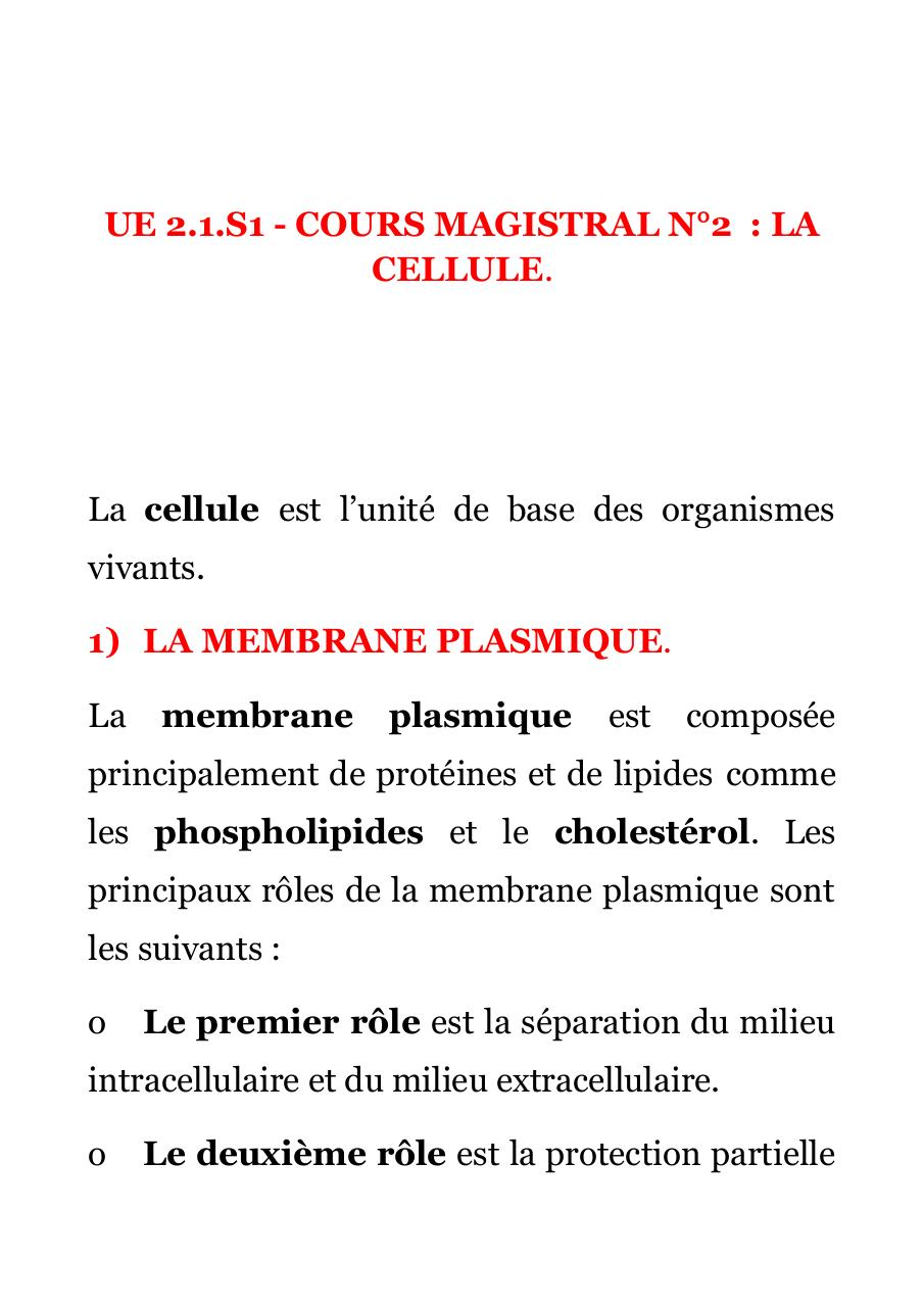 [BIO 211] COURS MAGISTRAL N°2.pdf - page 1/24