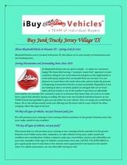 buy junk trucks jersey village tx