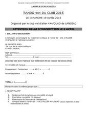 inscription et reglement trans val d allier 4x4 2015