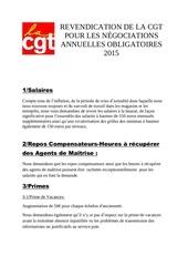 revendication de la cgt dia pour les negociations annuelles obligatoires 2015 02