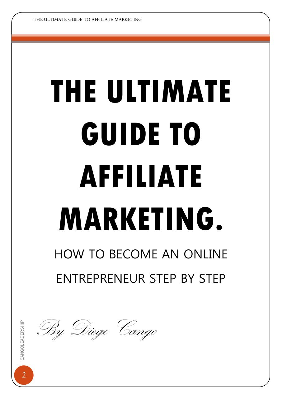 THE ULTIMATE GUIDE TO AFFILIATE MARKETINGebook.pdf - page 2/15