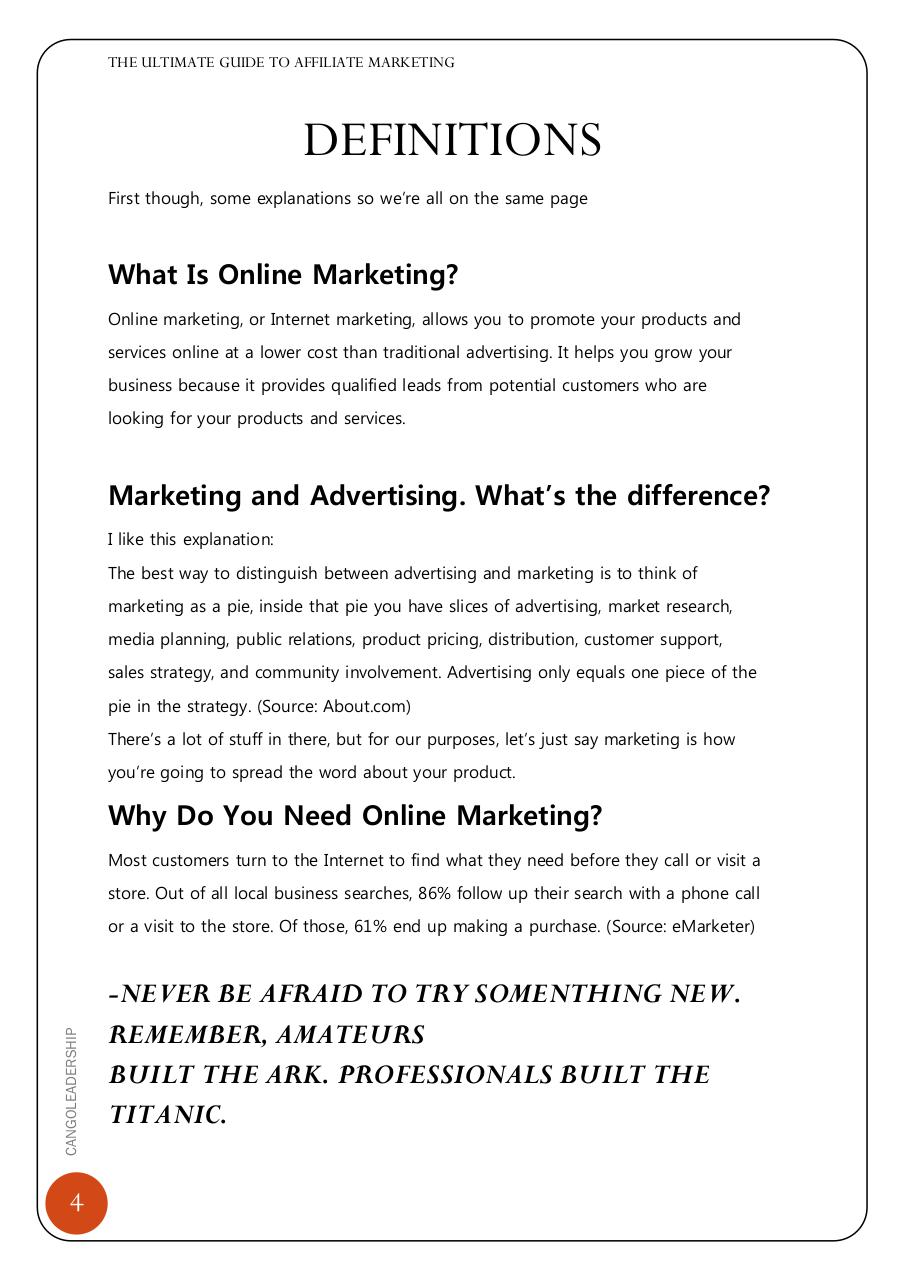 THE ULTIMATE GUIDE TO AFFILIATE MARKETINGebook.pdf - page 4/15