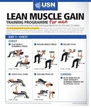 Fichier PDF lean muscle gain training programme men