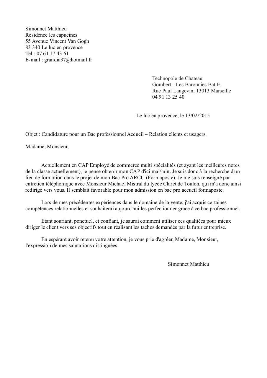 lettre de motivation simonnet matthieu