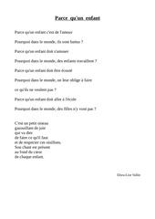elora poesie droit des enfants