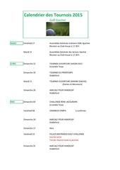 calendrier provisoire 2015