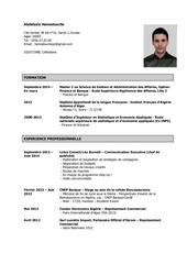 curriculum vitae actualise 2014