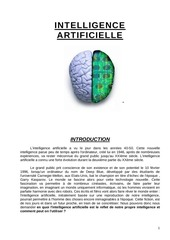 intelligence 20artificielle