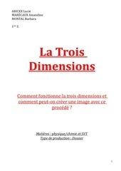 Fichier PDF la trois dimensions