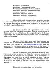 discours 2015 foire de barcelonne du gers