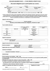 document medico sportif
