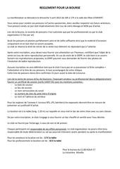 Fichier PDF reglement pour la bourse