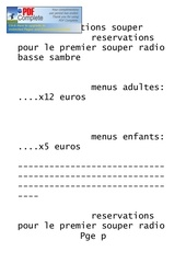 reservations souper