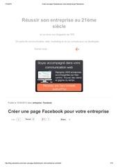 creer une page facebook pour votre entreprise par neocamino