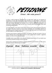 petizione ti