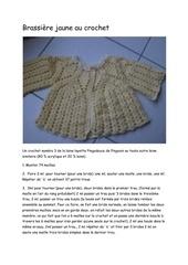 microsoft word brassiere jaune au crochet
