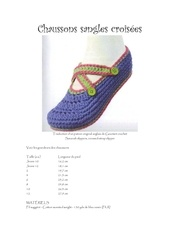 chaussons sangles croisees