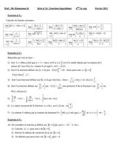 serie fonction logarithme bac sc exp