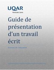 Fichier PDF guide de presentation des travaux uqar