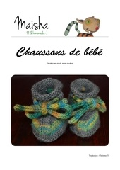 chaussons beebe aiguilles circulaires