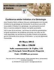 conference genealogie 19 mars 2015