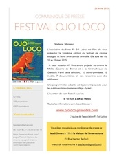 festival ojo loco communique de presse