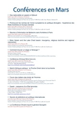 conferences de mars
