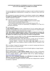 liste documents transcription mariage en algerie