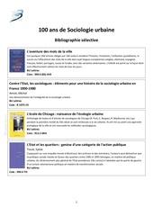 bibliographie selective 100 ans de sociologie urbaine