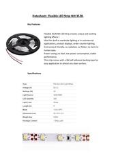 datasheet flexible led strip wit 3528