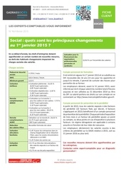 fiche info changements social 01012015