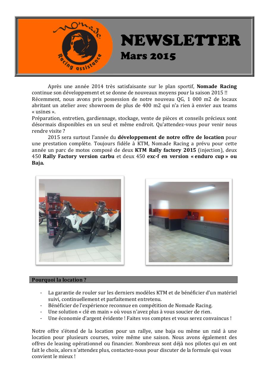 Aperçu du document News letter FR.pdf - page 1/2