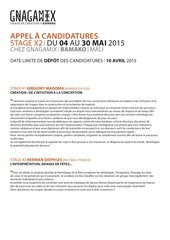 appel candidature mai2015