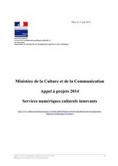 appel2014 servicesnumeriquesculturelsinnovants mcc